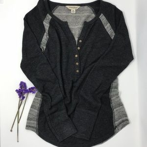 Lucky Brand Henley Thermal Top Size XS